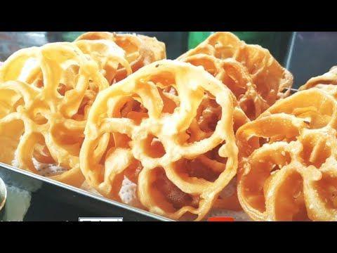 Kue Kembang Goyang Wijen Kuih Loyang Wijen Suguhan Lebaran Youtube Makanan Suguhan Kue