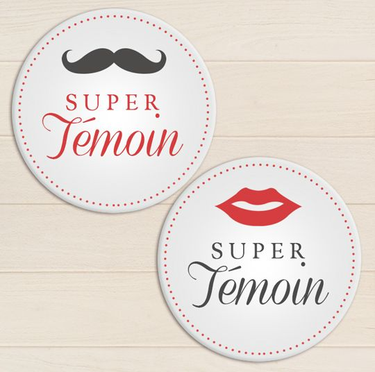 badge mariage super temoins my lovely badge pinterest mariage badges et moustache. Black Bedroom Furniture Sets. Home Design Ideas