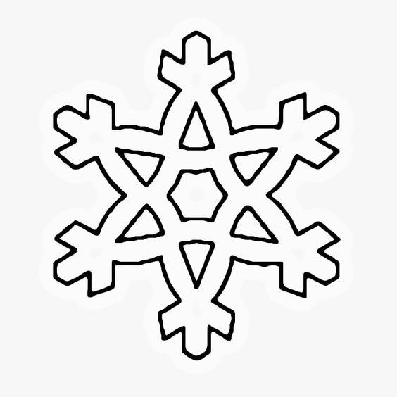 Coloriage flocon de neige d 39 hiver a imprimer gratuit - Dessins flocons de neige ...