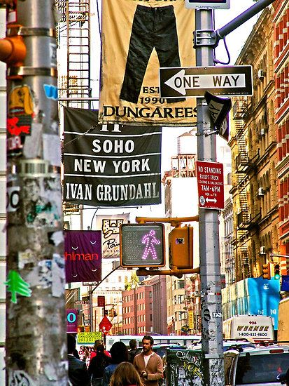Soho....I need the colors, the people, the sounds, the excitement, the diversity....home again, home again...jiggity jig...lol