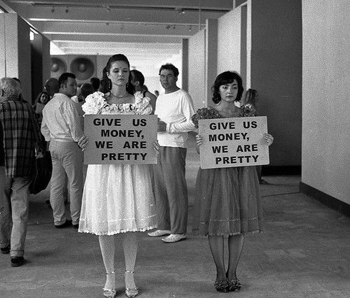 Give Us Money, We Are Pretty | I'd love to get some background on this!