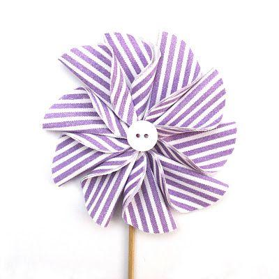 fabric pinwheel DIY