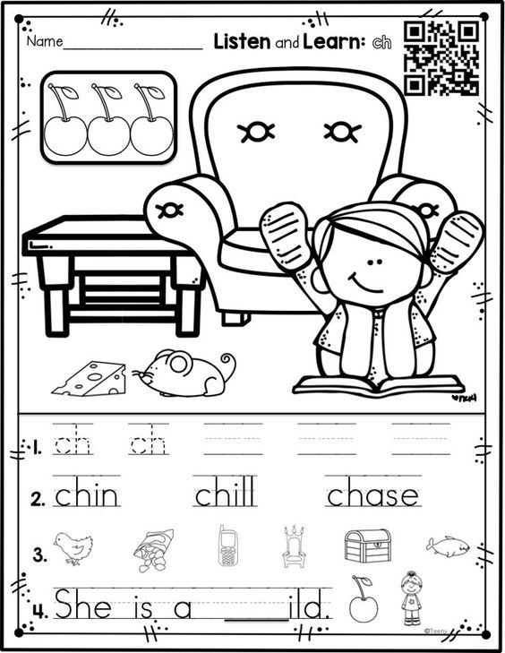 Digraphs version of Listen and Learn Activities
