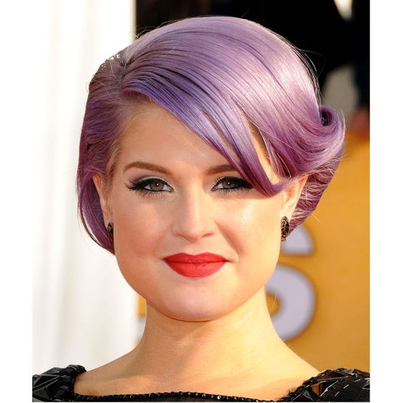 Style ICON: Kelly Osbourne for her fearless hair color move to lilac!