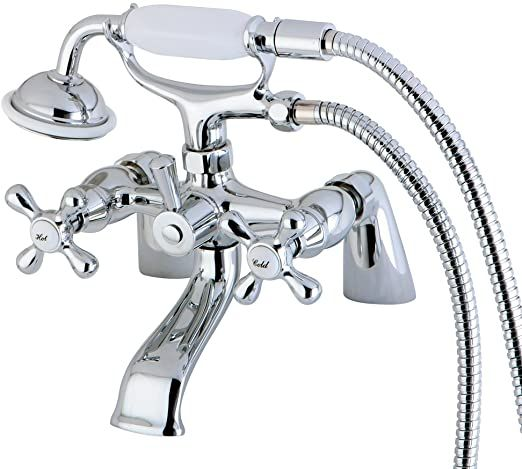 Nuvo Es2671x Elements Of Design Charleston Deck Mount Claw Foot Tub Filler With Hand Shower 6 1 2 Quot Polished In 2020 Clawfoot Tub Faucet Tub Faucet Clawfoot Tub