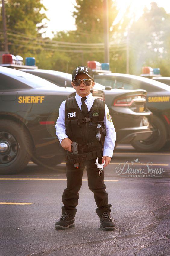 Boys FBI Halloween costume