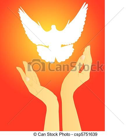Vector - hands releasing a white dove - stock illustration, royalty free illustrations, stock clip art icon, stock clipart icons, logo, line art, EPS picture, pictures, graphic, graphics, drawing, drawings, vector image, artwork, EPS vector art
