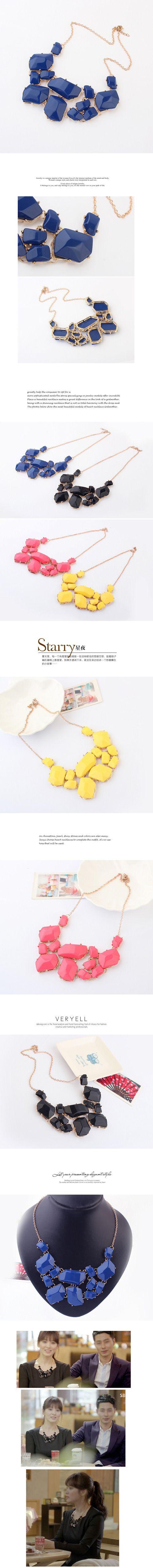 Collier de déclaration de mode, alliage de zinc, avec résine, avec 3cm chaînes de rallonge, Plaqué d'or, bleu, 5.5cm
