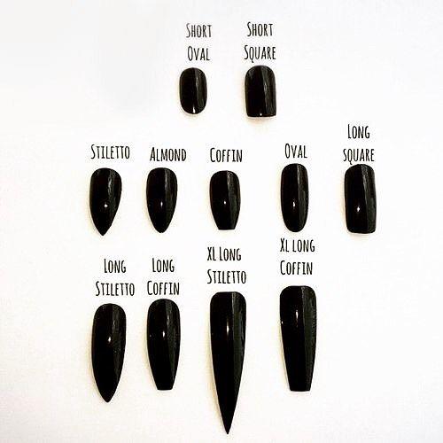 Which Nail Is Your Style Always Black Of Course Nails Blacknails Stilettonails Coffinnails Altclothing Altgirl Furry Nails Stiletto Nails Super Nails