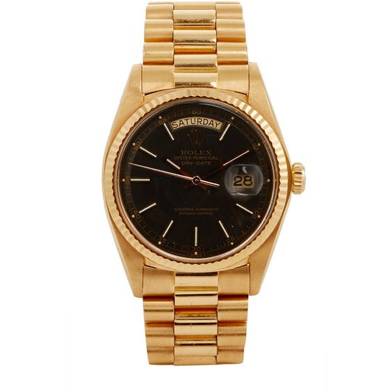 Material Good 18K Rose Gold Vintage Rolex Day-Date (172,200 EGP) ❤ liked on Polyvore featuring jewelry, red gold jewelry, vintage jewellery, rose gold jewelry, 18k jewelry and vintage rose gold jewelry
