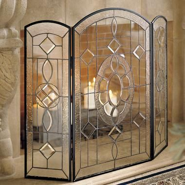 antique fire screen LG Glass Fire Screen Home Decoration