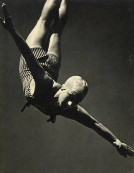 Berlin Olympics, Photo by Leni Riefenstahl, 1936 fascist aesthetics I know, but Calvin klein seems to have picked up a few notes....?