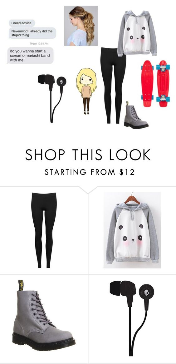 """""""A Million Miles From Home...Well La Di Da Di Da"""" by just-another-dweeb ❤ liked on Polyvore featuring Vince, Dr. Martens and Skullcandy"""