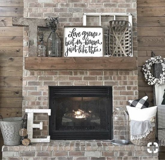 Rustic Fireplace Decor Home Decor Ad Shopstyle Rustic
