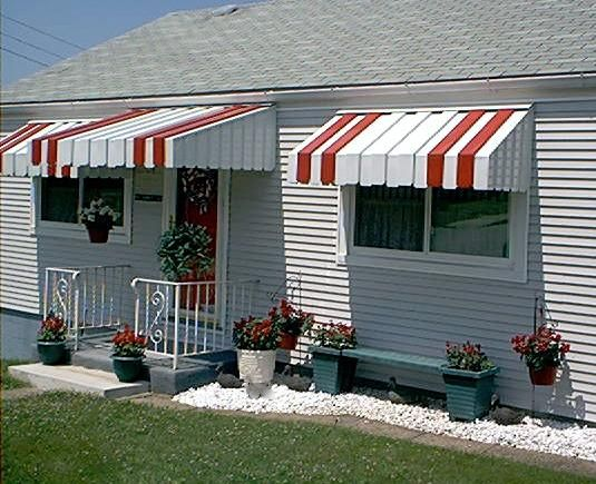Metal Door Awnings For Homes : Aluminum awnings house and metal awning on pinterest