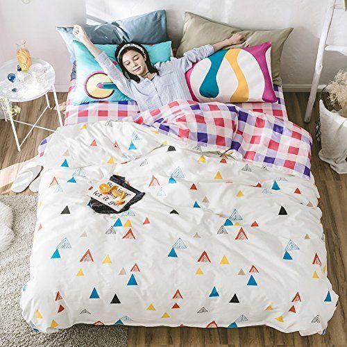 Nclon Duvet Cover Set 100 Cotton Four Set Of Duvet Cover Bed Set Bedding Printed Quilt Cover 220 240cm Bed Linen Pillowcase Duvet Cover Sets Bed Duvet Covers