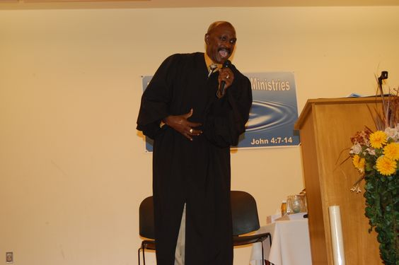 Pastor Thompson getting excited about the Word!