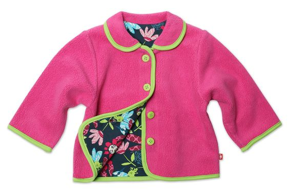 Zutano Baby-girls Infant Moonflower Barn Jacket, Fuchsia, 6 Months. Zutano is a husband and wife owned children's clothing company based in the foothills of Vermont. Button front. Machine wash cold, do not bleach, tumble dry low, warm iron.