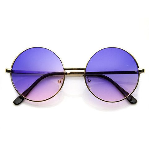 - Description - Measurements - Shipping - These classic round metal sunglasses are inspired by the legendary John Lennon and feature color tinted lenses. Not too big and not too small, these sunglasse