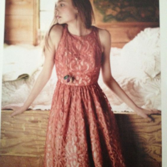 I WANT - Anthropologie dress - mariposa lace by trace Reese