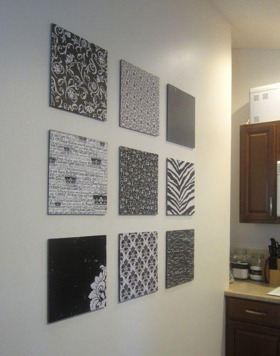 Paper wall decor pinterest : Diy scrapbook paper wall art and walls on