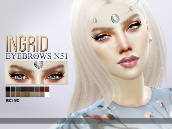 18 colors, for all ages and genders.  Found in TSR Category 'Sims 4 Facial Hair'