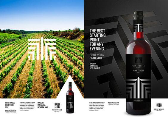 Point Wells Winery Branding on Behance