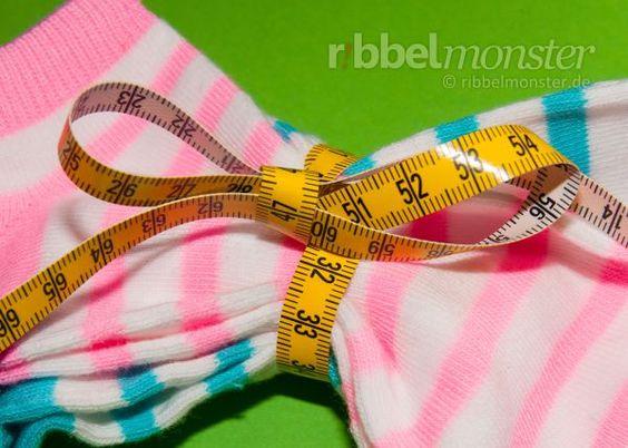 Sockengrößen und Schuhgrößen messen