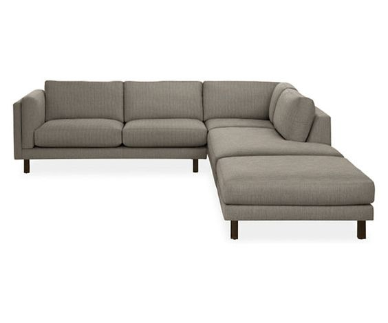 """Room & Board - Holden 147x112"""" Four-Piece Sectional with Left-Back Sofa"""
