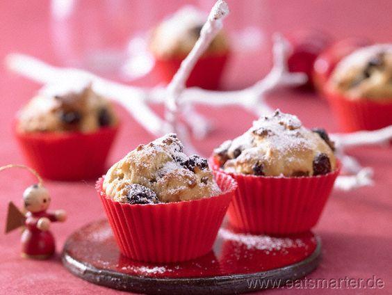 Einfach süß, die kleinen Hefekuchen nach Mailänder Art! Mini-Panettone - smarter - mit getrockneten Kirschen. Kalorien: 297 Kcal | Zeit: 20 min. #italia #baking