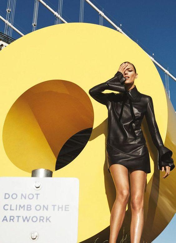 Anja Rubik On Display for Bergdorf Goodman September 2016 Issue