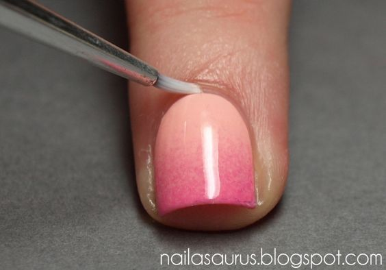 Gradient Nails Tutorial using any old sponge. Easy!!