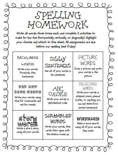 Spelling Choice Board Spelling Tic Tac Toe Template – Tic Tac Toe Template
