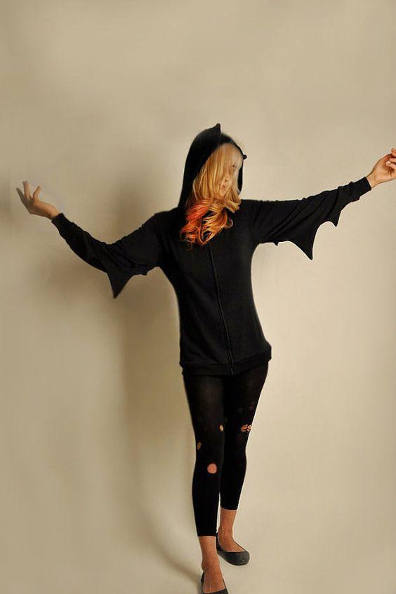BAT Hoodie Jacket by veraseyecandy on Etsy, $59.00