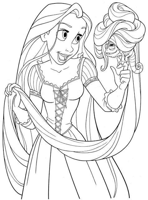Kumpulan Mewarnai Gambar Rapunzel Rapunzel Halaman Mewarnai Warna