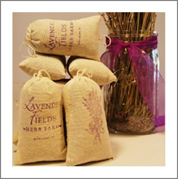 Stocking Stuffer: Fragrant Lavender Sachets from Lavender Fields Herb Farm, Glen Allen VA