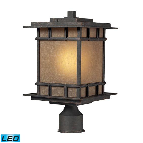 ELK Lighting 45014/1-LED Newlton Collection Weathered Charcoal Finish