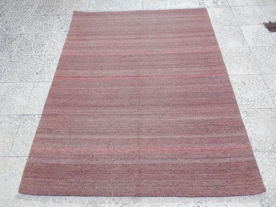Good Vintage Jugendstil Oushak Teppich f r Kinderzimmer Wohnzimmer und B ro Kelim Teppich einfache einfarbige Overdyed
