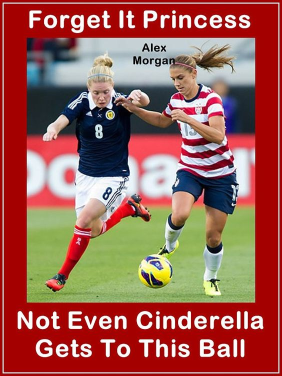 "Alex Morgan Soccer Quote Wall Art Poster Print 8x11"" Red Forget It Princess Not Even Cinderella Gets To This Ball - Free USA Shipping on Etsy, $15.99"