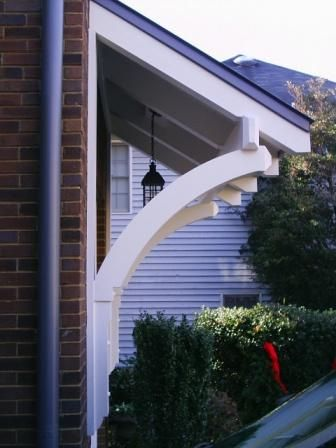 Front porches planes and braces on pinterest for Garage portico