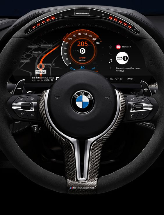 BMW Car Dashboard Design on Behance