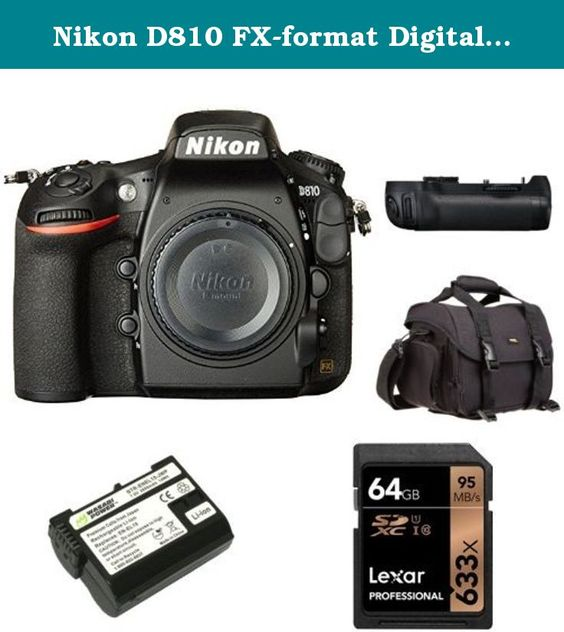 Nikon D810 FX-format Digital SLR Camera Body with 24-70mm Lens + Nikon MB-D12 Multi Battery Power Pack and Accessories. 36.3 MP FX-format CMOS sensor without an Optical Low Pass Filter (OLPF). MS-D12EN Li-ion Rechargeable Battery Holder for MB-D12 Battery Pack. Store, carry and protect your camera equipment. High-speed, Class 10 performance-leverages UHS-I technology for a read transfer speed up to 633x (95MB/s). Guaranteed to function like the Nikon original EN-EL15 for the Nikon 1 V1…