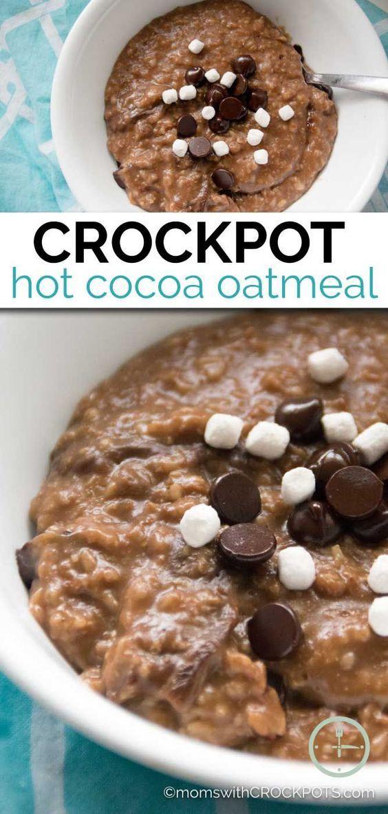 Crockpot Hot Cocoa Oatmeal