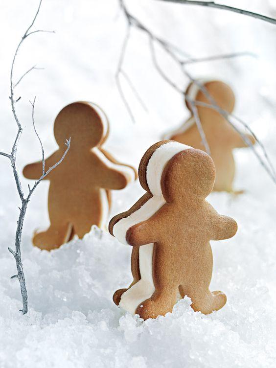 Gingerbread Men Ice Cream Sandwiches | Donna Hay