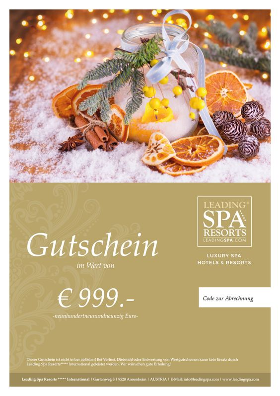 Spa wellness gutschein  Pin by Leading Spa Resorts ***** International on Packages ...