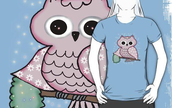 http://www.redbubble.com/people/susana-art/works/14789404-owl?p=t-shirt&style=womens