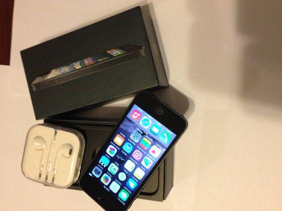 Apple iPhone 5 - 16GB - Black & Slate (Factory Unlocked) Smartphone #Apple #Bar