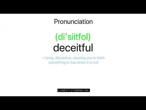 Deceitful English Pronunciation And Vocabulary Youtube Vocabulary Pronunciation Deceit