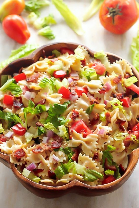 Summer Italian Dressing And Blt Pasta Salads On Pinterest
