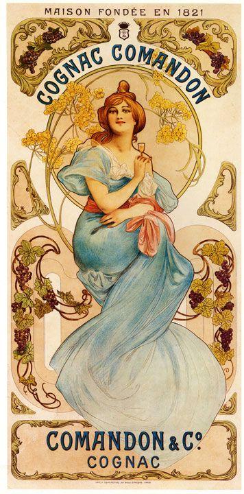 Vintage Cognac Comandon Fine Art Giclee Print